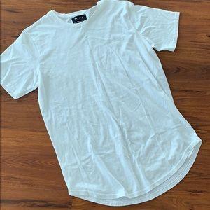 Men's Pacsun scalloped white scalloped shirt
